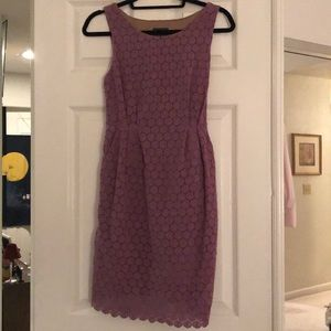 Anthro purple lace dress